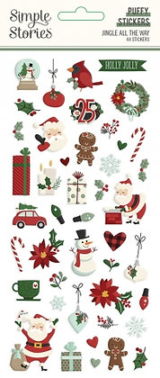 SIMPLE STORIES- JINGLE ALL THE WAY -PUFFY STICKERS