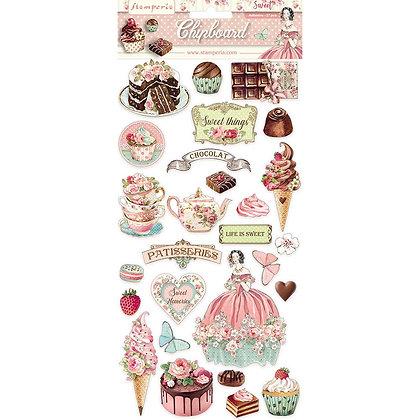 Chipboard Collezione Sweety di Stamperia