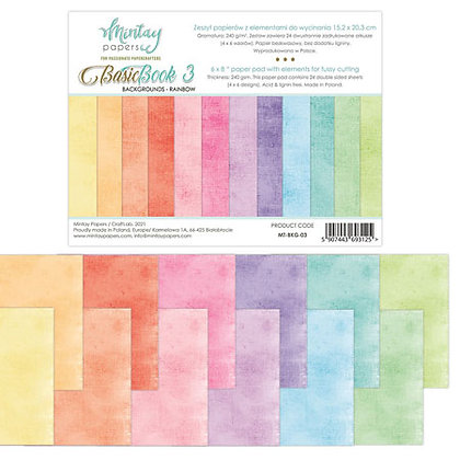 Mintay Papers - Basic book 3 -Background Rainbow 15x20 cm