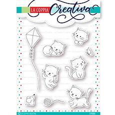 """La coppia creativa - Set 9 timbri  """" Gattini Coccolosi   """""""
