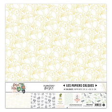 "Florileges Design  Set 4 fogli in vellum  "" La dolce vita"""
