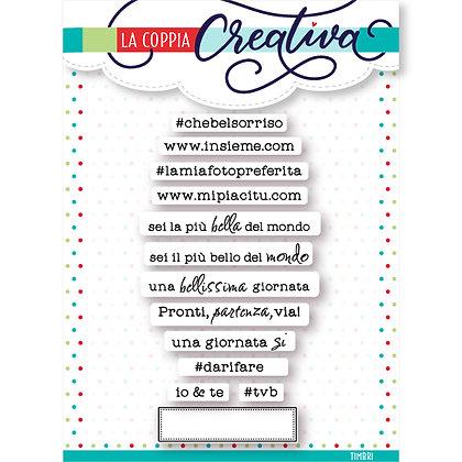 """La coppia creativa - set 13   timbri """" Amore per i mini """""""