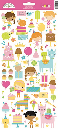 Doodlebug Design Hey Cupcake Icon Cardstock stickers