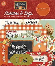 Carta Bella  Frames  and Tag  Hello Autumn