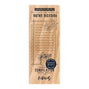 Florileges Design Timbro in legno Bouillon de bonheur