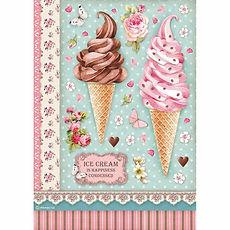 Carta di riso A4 Ice cream   Collezione Sweety di Stamperia