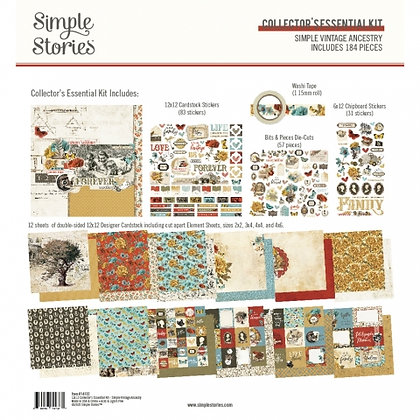 SIMPLE STORIES- SIMPLE VINTAGE ANCESTRY  -COLLECTOR'S ESSENTIAL KIT
