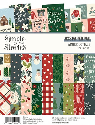 SIMPLE STORIES- WINTER COTTAGE 6 x 8 PAD