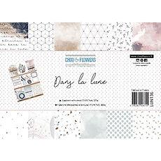 "Chou & Flowers - Paper pack A4- Collezione "" Dans la lune """