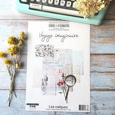 "Chou & Flowers - Paper pack A4 Vellum   ""  Voyage Imaginaire """