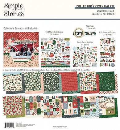SIMPLE STORIES- WINTER COTTAGE -COLLECTOR'S ESSENTIAL KIT