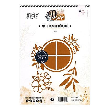 Florileges Design fustella Jolie fenetre ronde
