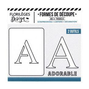Florileges Design fustelle  lettera A collezione  A la Lettre