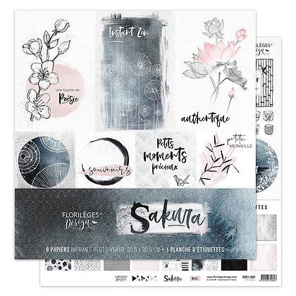 Florileges Design kit 8 carte collezione Sakura