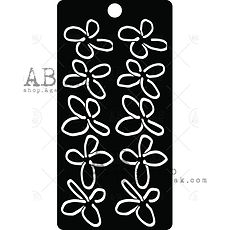 AB STUDIO  stencil Flowers