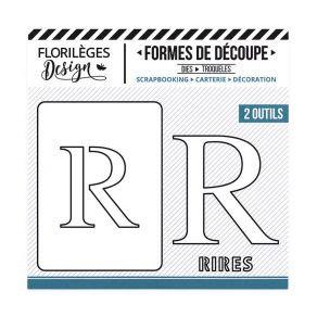Florileges Design fustelle  lettera R  collezione A la lettre
