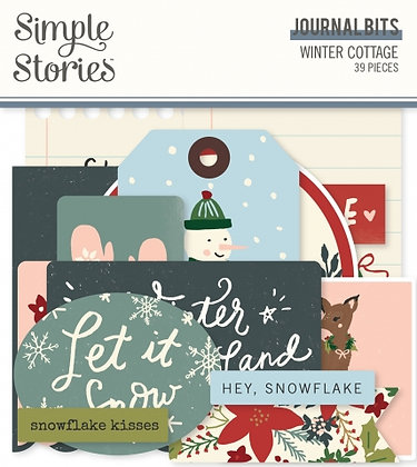 SIMPLE STORIES- WINTER COTTAGE-JOURNAL BITS