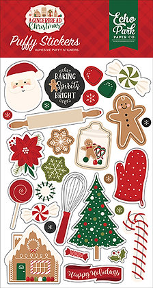 ECHO PARK  Puffy stickers A GINGERBREAD CHRISTMAS