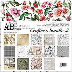 "AB STUDIO scrapbooking pad collezione "" Crafter's Bundle 2"""