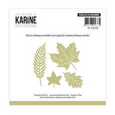 """Les  ateliers de Karine - 4  fustelle  """" Feuilles d'automne """""""