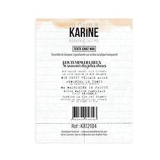 """Les Ateliers de Karine - Timbri clear """"Text chez moi """""""