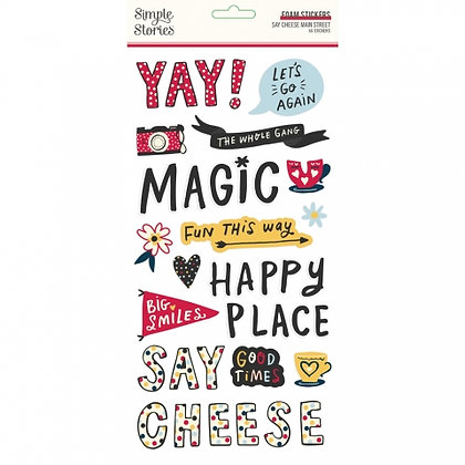 SIMPLE STORIES- SAY CHEESE Main Street -FOAM STICKERS
