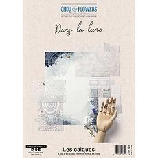 """Chou & Flowers - Vellum Paper pack A4- Collezione """" Dans la lune """""""