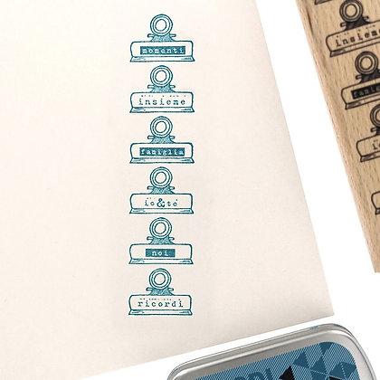 Florileges Design Timbro in legno Mollette dei ricordi