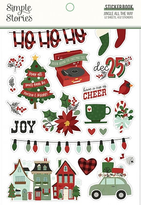 SIMPLE STORIES- JINGLE ALL THE WAY  -STICKER BOOK
