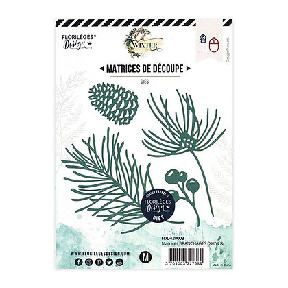 "Florileges Design fustella "" Branchages d'hiver """