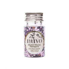 NUVO CONFETTI 35 ml Muted Mauve Hexagons