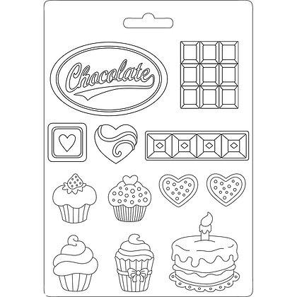 Stampo in plastica flessibile collezione Sweety di stamperia
