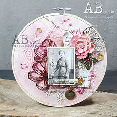 AB Studio-  Set tre fiori in chipboard