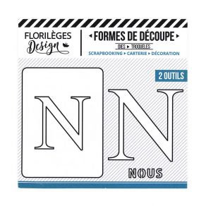 Florileges Design fustelle  lettera N  collezione A la lettre