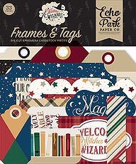Frames  and Tag  Echo Park  collezione Witches & Wizards