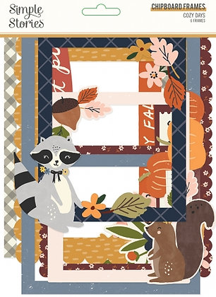 SIMPLE STORIES- COZY DAYS-CHIPBOARD FRAMES