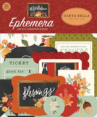 Carta Bella  Ephemera die cut Hello Autumn