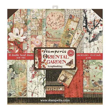 Pad scrapbooking  10 fogli collezione Oriental Garden  di StamperiA