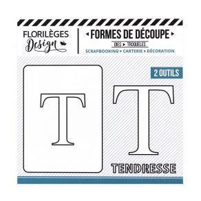 Florileges Design fustelle  lettera T  collezione A la lettre