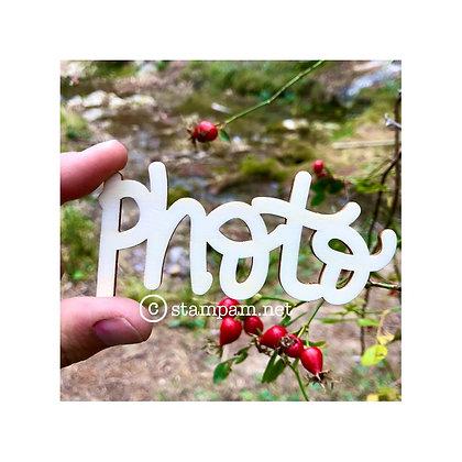 """Sentiments in legno """" Photo"""""""