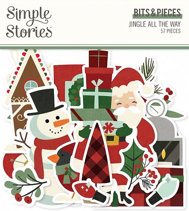 SIMPLE STORIES- JINGLE ALL THE WAY -BITS E PIECES