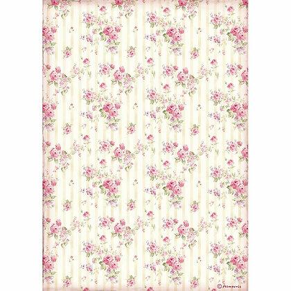 Carta di riso A4 Rose wall paper  Collezione Sweety di Stamperia