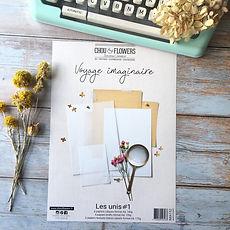 """Chou & Flowers - Paper pack A4 """" Les unis  Voyage Imaginaire"""""""