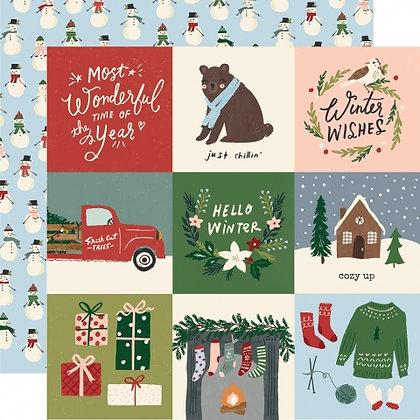 SIMPLE STORIES- WINTER COTTAGE  4 x 4 ELEMENTS