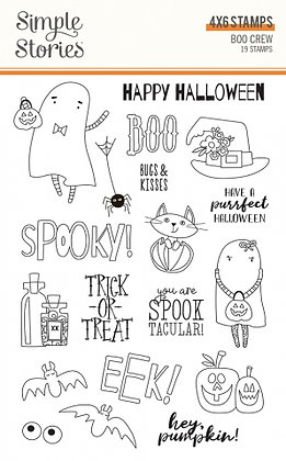 SIMPLE STORIES- BOO CREW -STAMPS