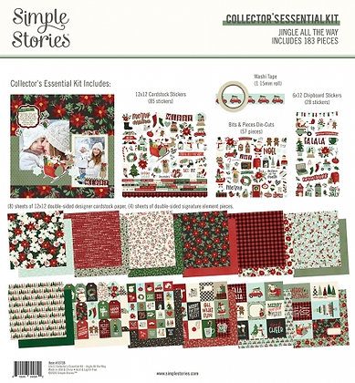 SIMPLE STORIES- JINGLE ALL THE WAY  -COLLECTOR'S ESSENTIAL KIT