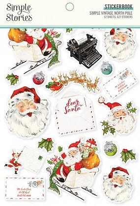 SIMPLE STORIES- SIMPLE VINTAGE North Pole   -STICKER BOOK