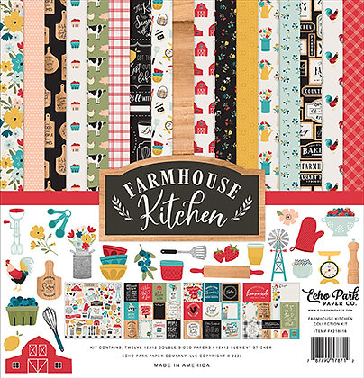 Farmhouse Kitchen Echo Park Collection kit 12 x 12 inch