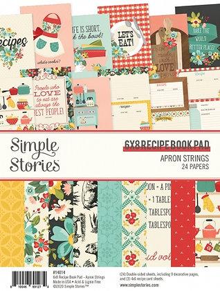 SIMPLE STORIES- APRON STRINGS RECIPE BOOK PAD   6 x 8 PAD