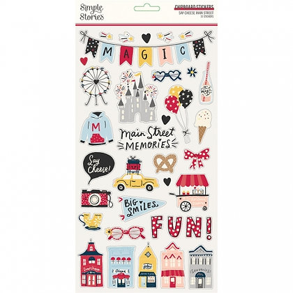 SIMPLE STORIES SAY CHEESE Main Street  6 x 12 CHIPBOARD